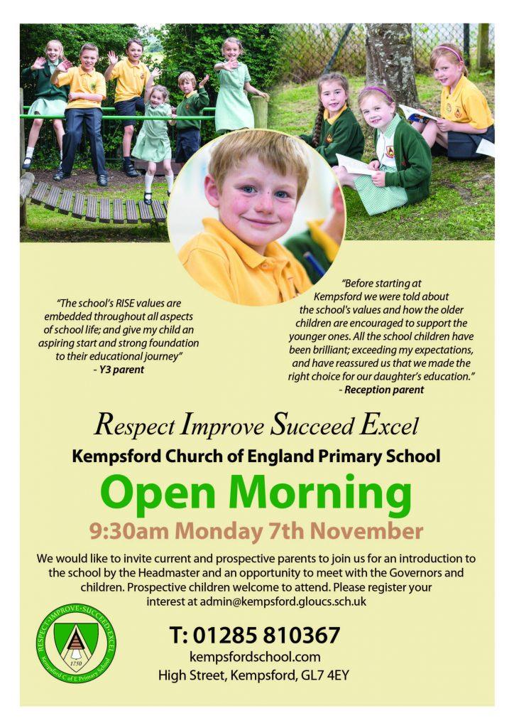Kempsford Open Morning Flyer